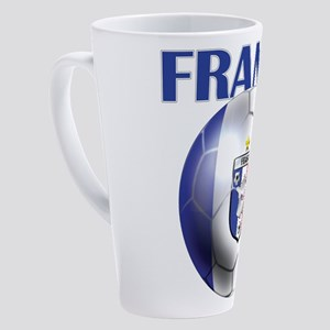 France Soccer Football 17 Oz Latte Mug