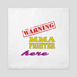 Warning MMA Fighter Here Queen Duvet