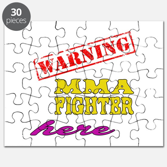 Warning MMA Fighter Here Puzzle