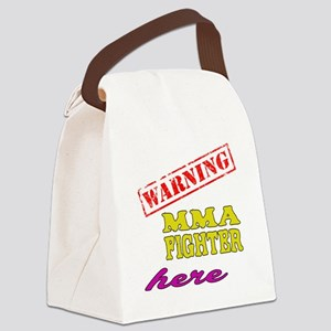 Warning MMA Fighter Here Canvas Lunch Bag