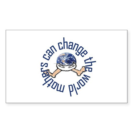 Mothers Change the World Rectangle Sticker