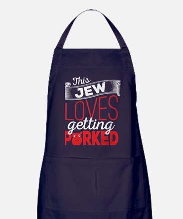 This Jew Loves Getting Porked Apron (dark)