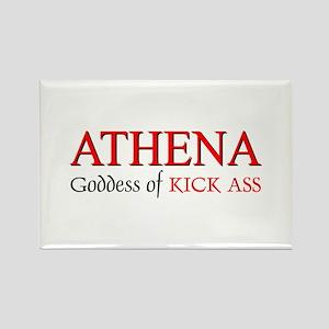 """""""Athena: Goddess of KICK ASS"""" Rectangle Magnet"""