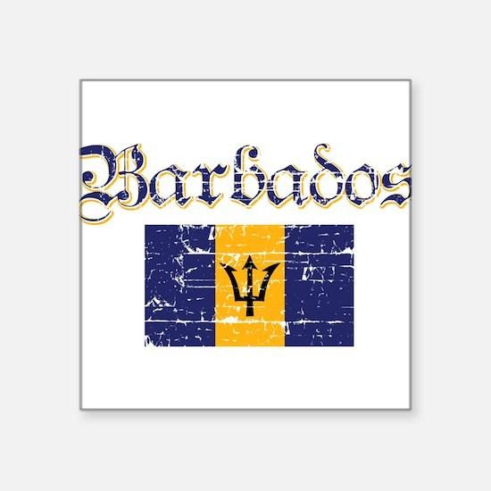 """Cute Barbadian Square Sticker 3"""" x 3"""""""