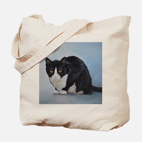 Unique Tuxedo cat Tote Bag