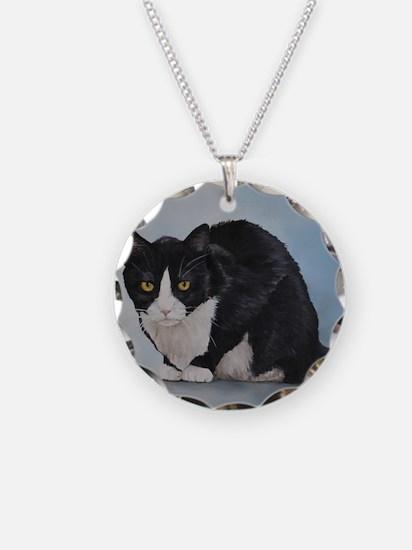 Cute Tuxedo cat Necklace
