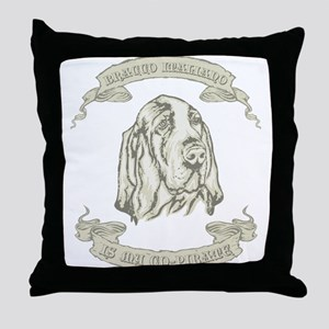 Bracco Italiano Throw Pillow
