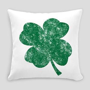 St Patricks Shamrock - Washed Everyday Pillow