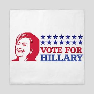 vote for hillary Queen Duvet