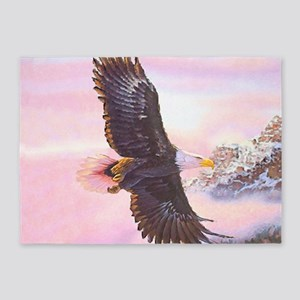 Eagles in Mist 5'x7'Area Rug