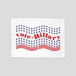 vote hillary 5'x7'Area Rug