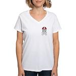 Lil' Spike CUSTOMIZED Women's V-Neck T-Shirt