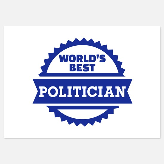 World's best Politician 5x7 Flat Cards