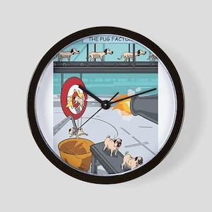 Pug Factory Wall Clock