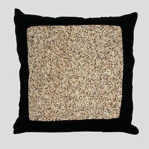 GRANITE BROWN 3 Throw Pillow