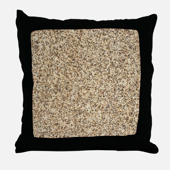 GRANITE BROWN 3 Throw Pillow