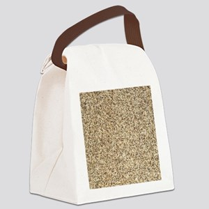 GRANITE BROWN 3 Canvas Lunch Bag