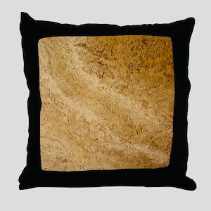 GRANITE BROWN 2 Throw Pillow