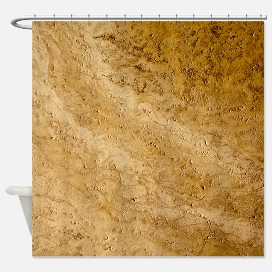 GRANITE BROWN 2 Shower Curtain