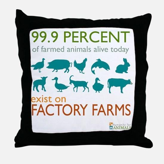 Unique Veganism Throw Pillow