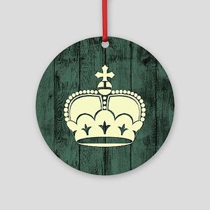 CROWN Round Ornament