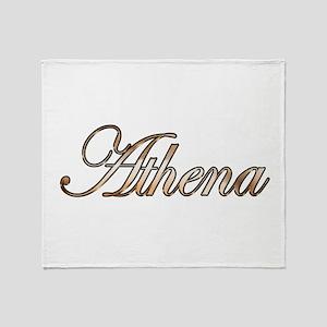 Gold Athena Throw Blanket