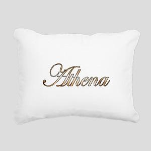 Gold Athena Rectangular Canvas Pillow