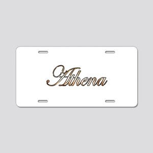 Gold Athena Aluminum License Plate