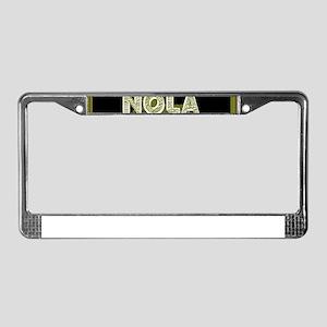 NOLA Black and Gold Double Fra License Plate Frame