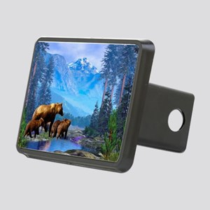 Mountain Grizzly Bears Rectangular Hitch Cover