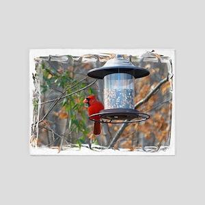 Male Cardinal 5'x7'Area Rug