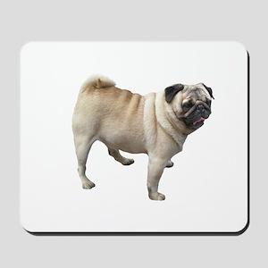 White Pug Dog Mousepad