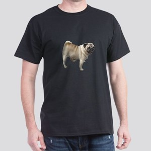 White Pug Dog Dark T-Shirt