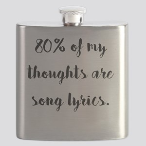 80% of My Thoughts Are Song Lyrics Flask