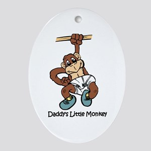 Daddy's Little Monkey Oval Ornament