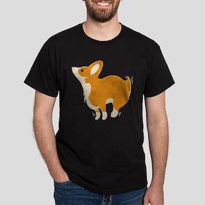 Cartoon Corgi Dark T-Shirt