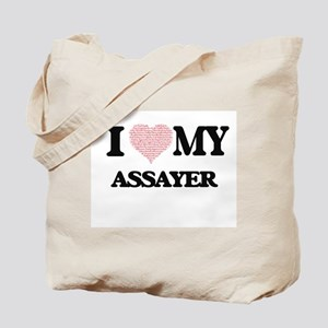 I love my Assayer (Heart Made from Words) Tote Bag