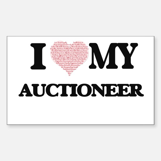 I love my Auctioneer (Heart Made from Word Decal
