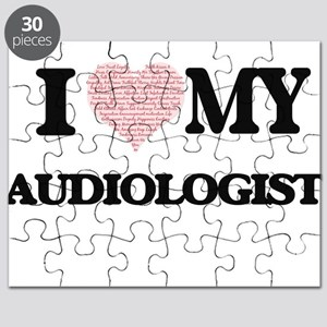I love my Audiologist (Heart Made from Word Puzzle