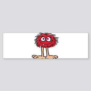 Red Fuzzy Gal Bumper Sticker