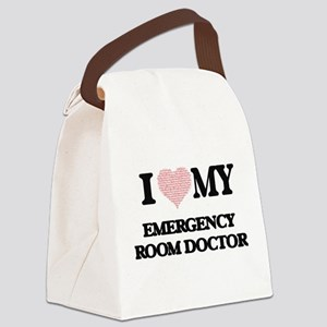 I love my Emergency Room Doctor ( Canvas Lunch Bag