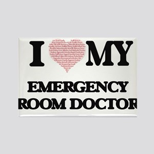 I love my Emergency Room Doctor (Heart Mad Magnets