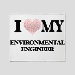 I love my Environmental Engineer (He Throw Blanket