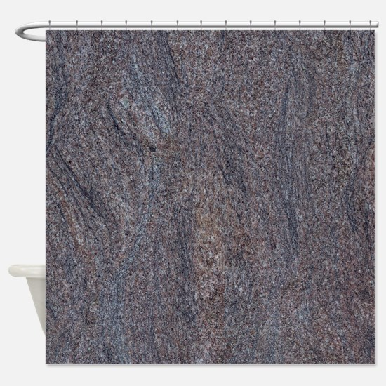 GRANITE BLUE-BROWN Shower Curtain