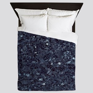 GRANITE BLUE-BLACK 1 Queen Duvet