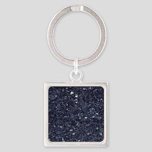 GRANITE BLUE-BLACK 1 Square Keychain