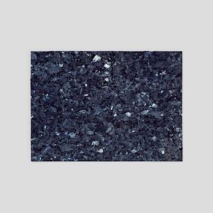 GRANITE BLUE-BLACK 1 5'x7'Area Rug