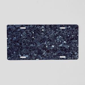 GRANITE BLUE-BLACK 1 Aluminum License Plate