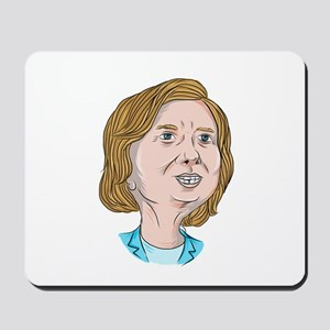 Hillary Clinton Caricature Mousepad