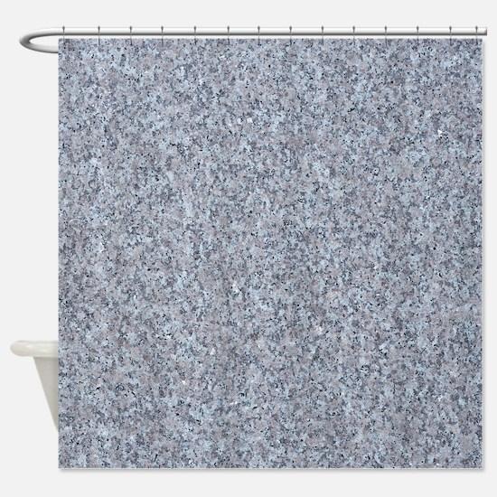GRANITE BLUE-GREY Shower Curtain